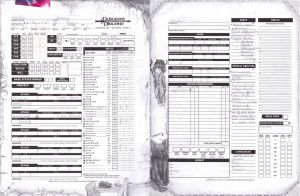 Dungeons and Dragons - My character sheet by CrypticGrin