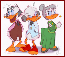 Scrooge, Ludwig and Matilda by KicsterAsh