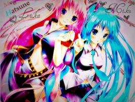 Miku and Luka by omgtheykilledkenny15