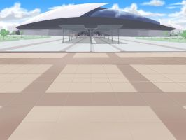 Convention or Stadium Entrance Background by wbd