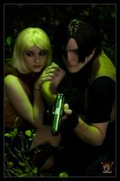 Ashley and Leon - Take Cover by Kuragiman