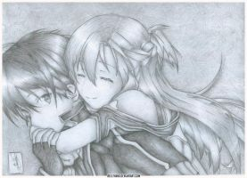 Kirito and Asuna by Beelthand