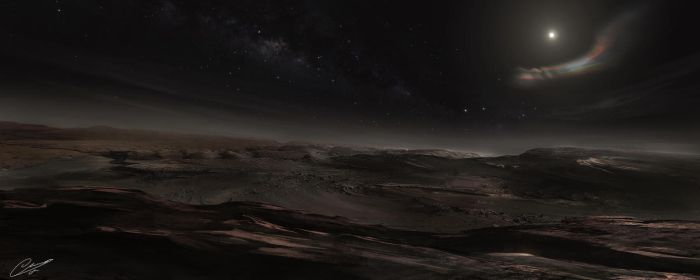 View of Pluto by GuilleBot