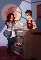Zutara at Coffee Shop by raynning