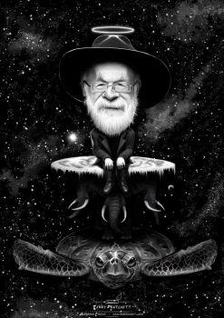 Terry Pratchett by pardoart