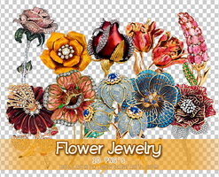 Flower Jewelry PNGs by Bellacrix