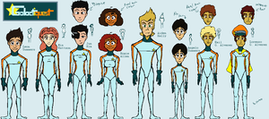 Star Rangers/Galactiquest New Height Chart by bulgariansumo