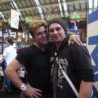 me and vic mignogna at manchester comic con by Acey-kakarot-michael