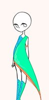 Turquoise Outfit Adopt CLOSED by Camomilsa