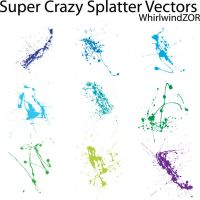 Super Crazy Splatter Vectors by WhirlwindZOR