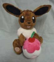 Custom Eevee with pokepuff plush *sold* by angelberries
