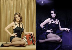 Tina Fey Gothic Before After by SalaciousTunare