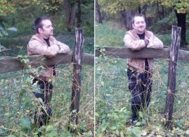 Me on a Fence by Azadeth