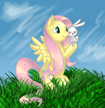 Fluttershy for Bria by Ikasama