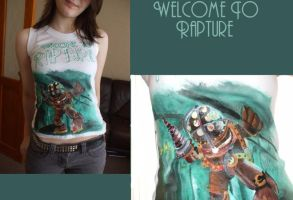 Welcome.TO.Rapture ::T-Shirt:: by Drenched-In-Cyanide