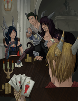 Sertequis Poker Night by Narfadoodle