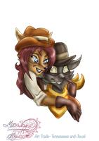 ArtTrade-Tennessee and Jewel by Moon-Shyne