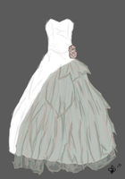 wedding dress design by mozzkitty