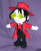 Alucard Plushie with glasses by WampusDragon