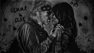 Gemma and Clay by juley-art
