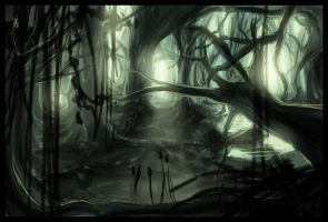 Bog in the darkness by MaoUndo