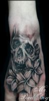 Foot Skull by Reddogtattoo