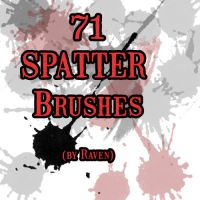 Spatter Brushes 2 by blackRAVENsong