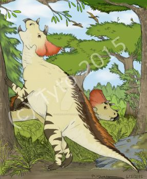 Avaceratops grazing by Stuff-by-Tyto