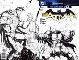 Batman Zero Dark Knight Returns Sketch Cover by KomicKarl
