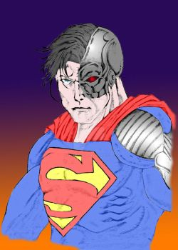 Cyborg Superman (by OmarJosef) Color by ArteDigitalSA