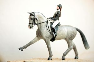 Stablemate Bridle + customized rider by PegasusCreations