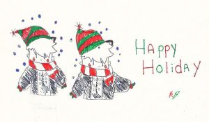 Happy Holiday Dumands Card by oozsinfered