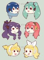 vocaloid magnets by resubee