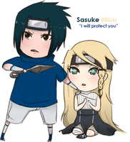 Commission: Sasuke x Miuu by malengil