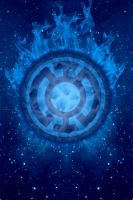 Blue Lantern Fireball Background by KalEl7