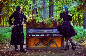 Gothic Couple_4 by AngeliqueDeSange