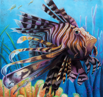 LionFish ChalkArt by charfade