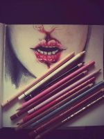 bloody hell: in process by InaAmani