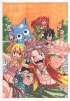 Fantasy- Natsu and friends(copics) by manuel-sama