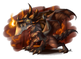 Deathwing the Cookie-burner by WingedWilly
