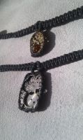 Minimal Macrame Steampunk Necklaces by aequinox