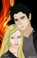 Alex and Willow - Angel Fire by L.A. Weatherly by jamesvallesteros