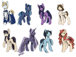 Various Female Pony Concepts (pt2) by Lionel23