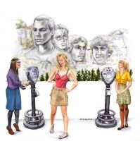 Big Bang Theory Mount Rushmore by crossstreet