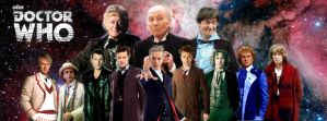 The Twelve Doctors Facebook Cover Photo Mk II by conjob1989