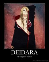 Deidara Motivational Poster by JecOlantern