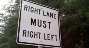 RIGHT LANE MUST by boeingboeing2