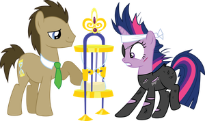 Future Twilight and Dr. Whooves - Time Lords by MysteriousKaos
