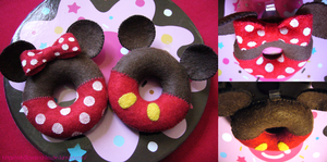 Mickey and Minnie Donuts by XxH3LLOxKiMCHixX