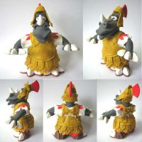 Wendl the Roman rhinoceros by Clayed